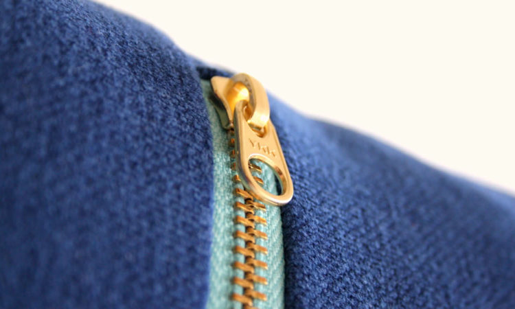 Designer blue zipped jumper
